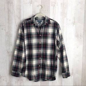 [Ralph Lauren] Plaid Flannel Button Down Shirt